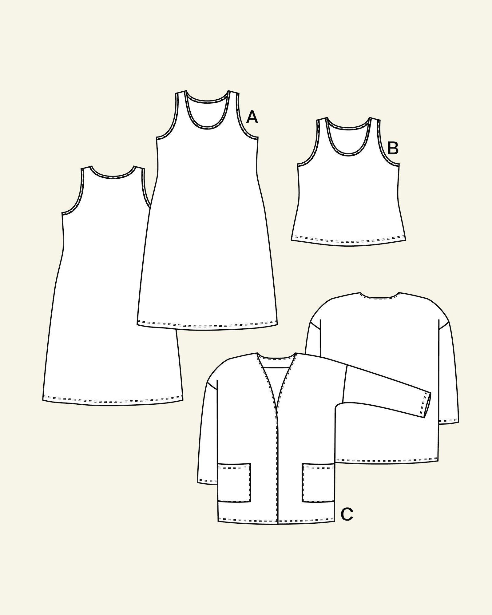 Dress, top and cardigan