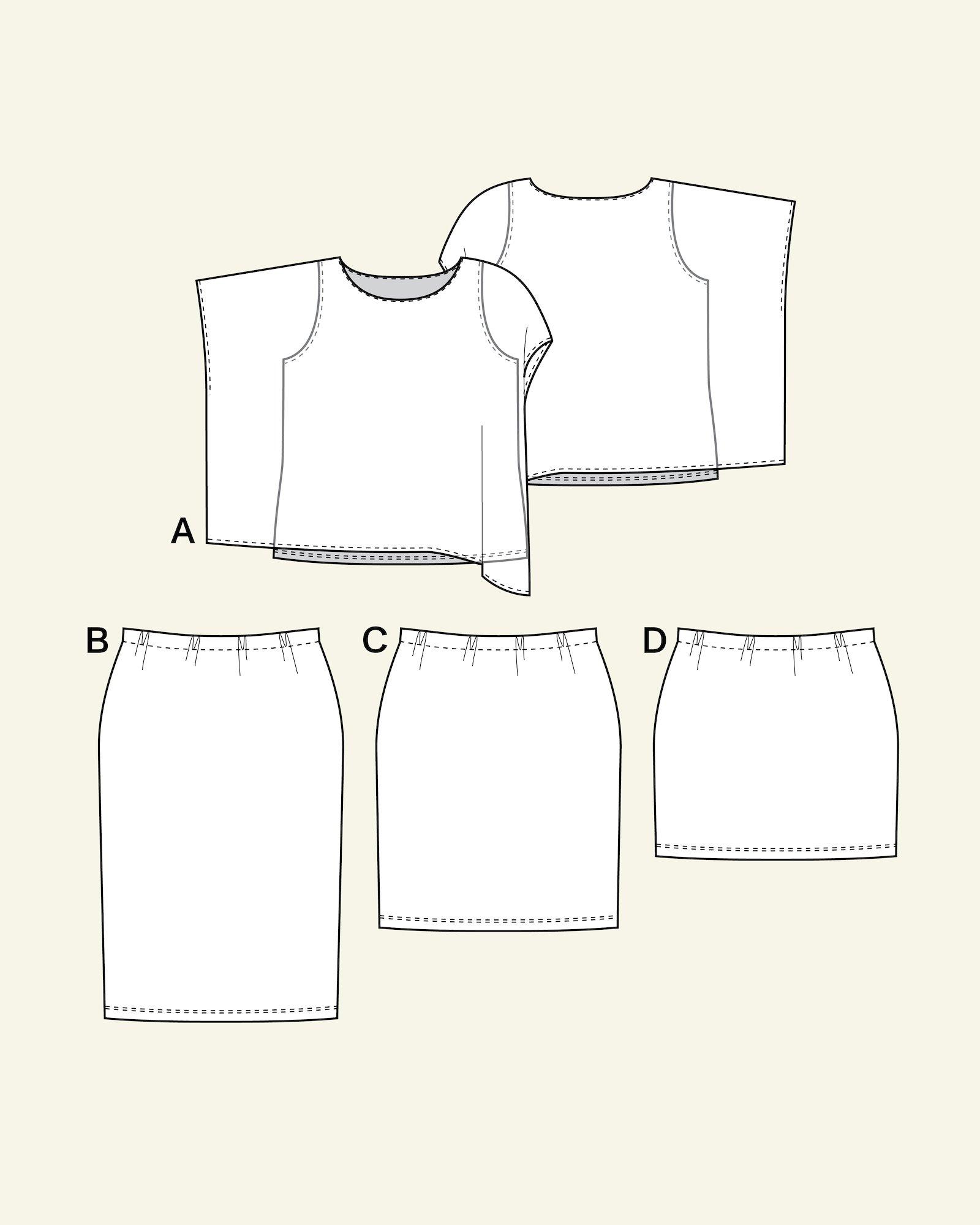Top and skirt, 46/18