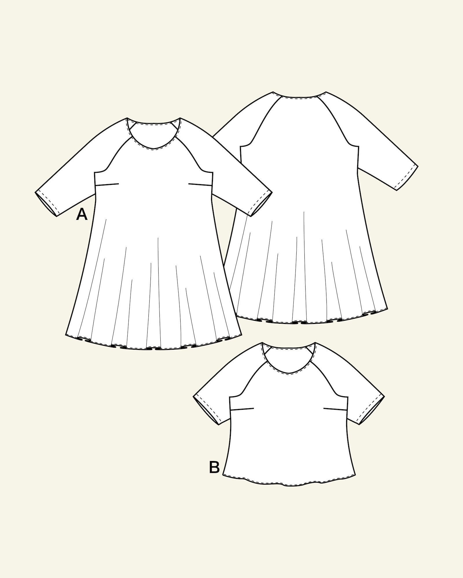Dress and blouse, 46/18