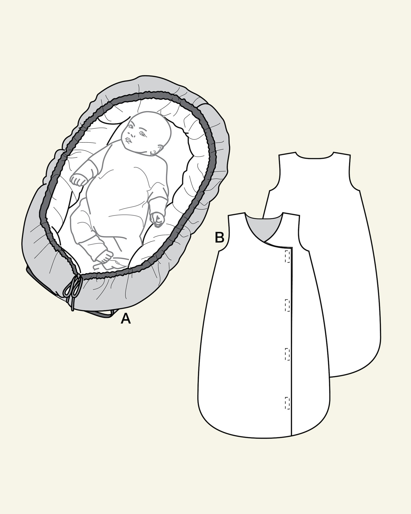Baby nest and sleeping bag