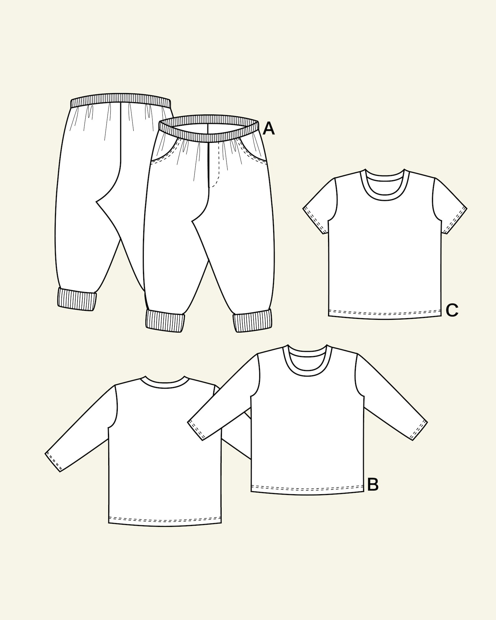 Trousers and T-shirt