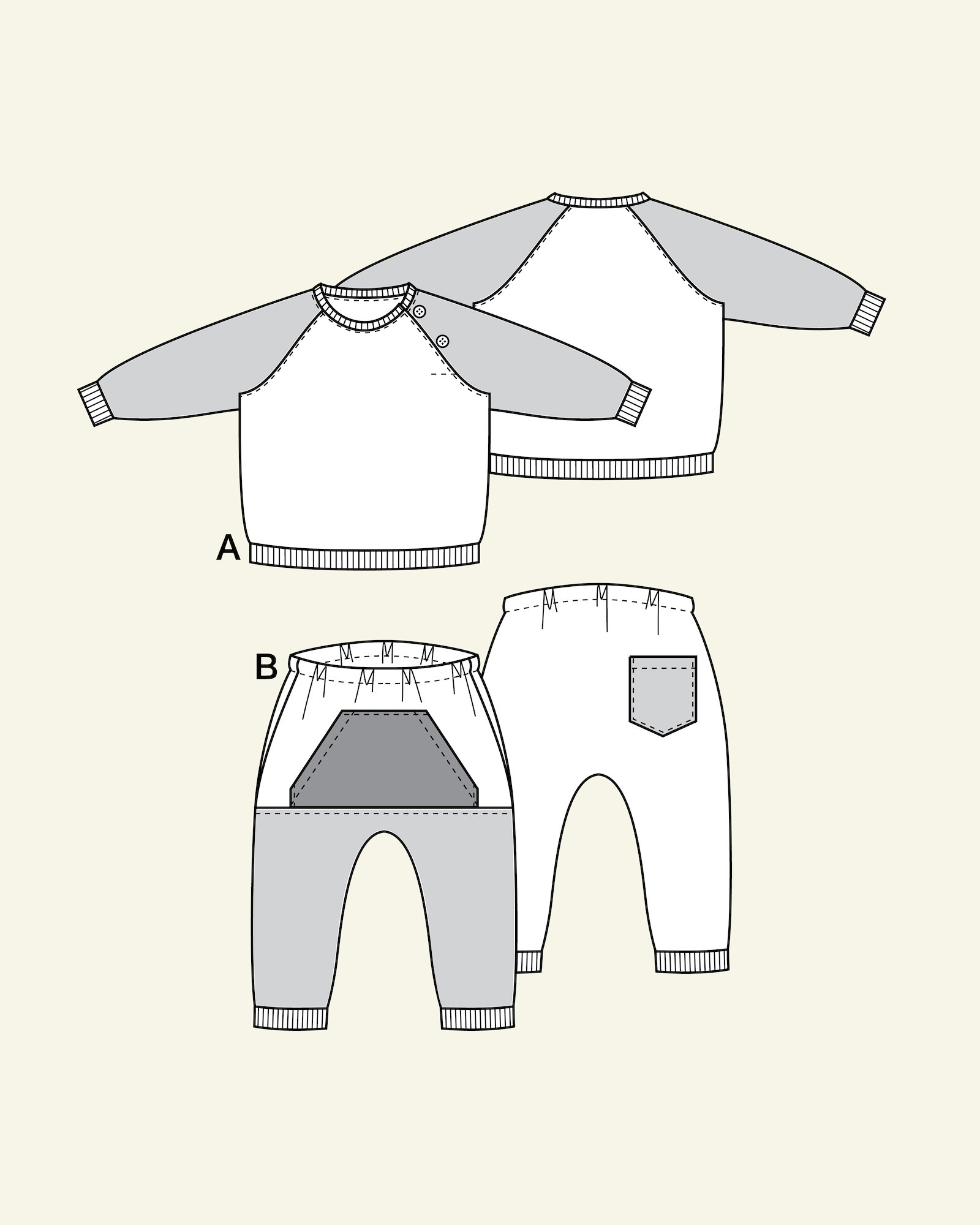 Sweatshirt and sweatpants