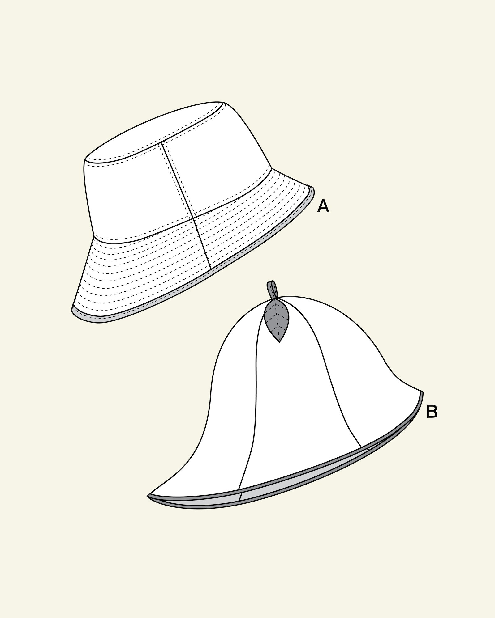 Baby sunhat and cloche