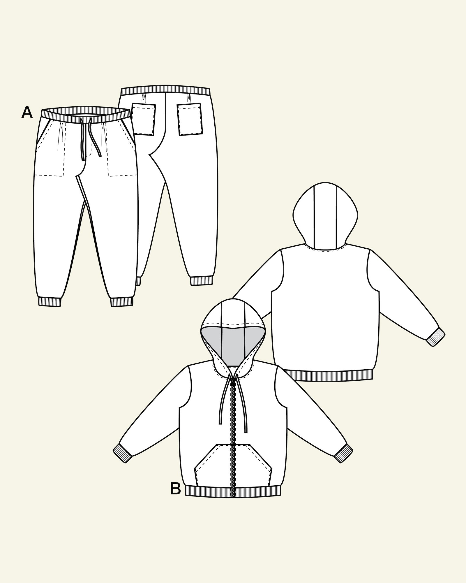 Sweatshirt og sweatpants