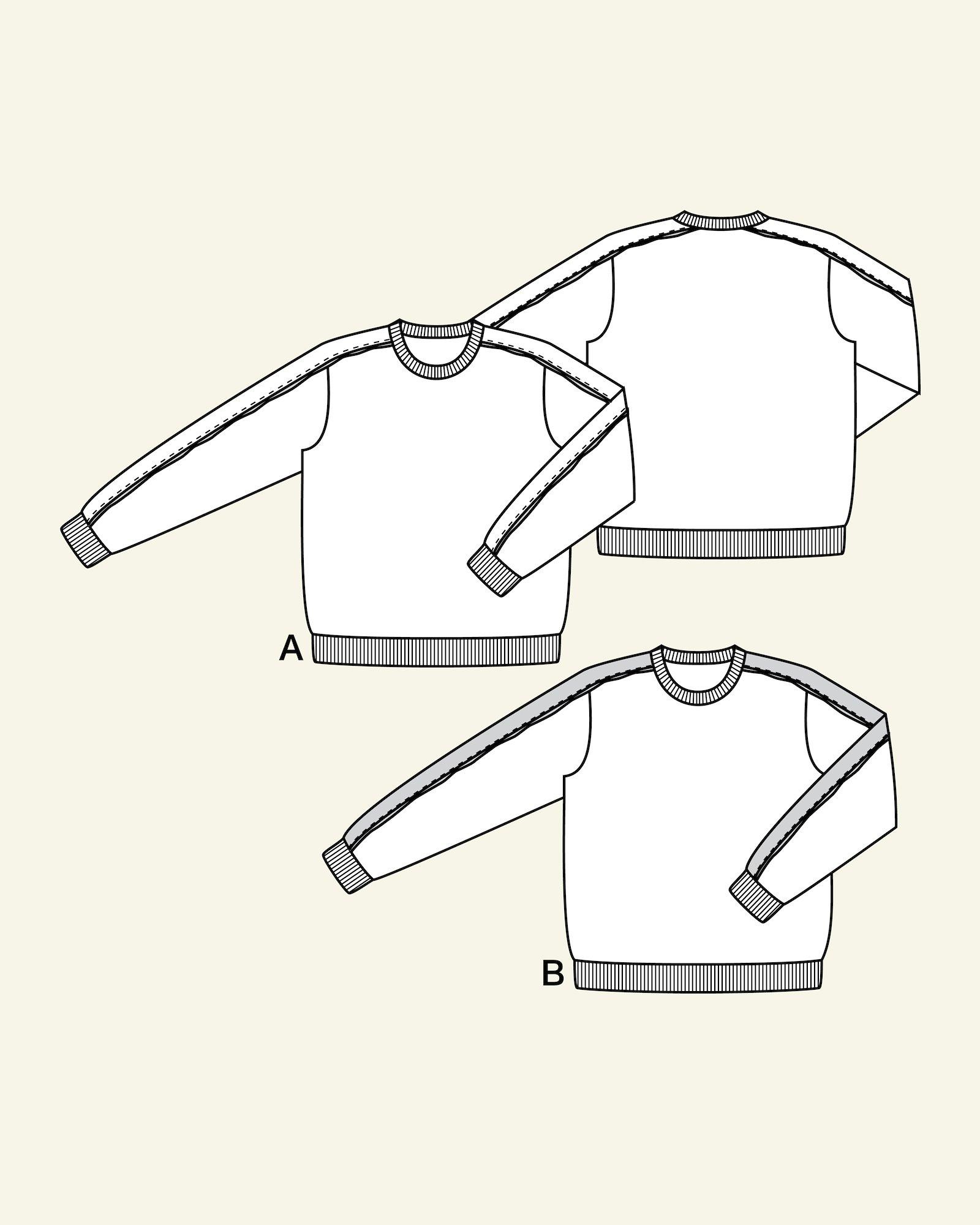 Sweatshirt with cross cutting