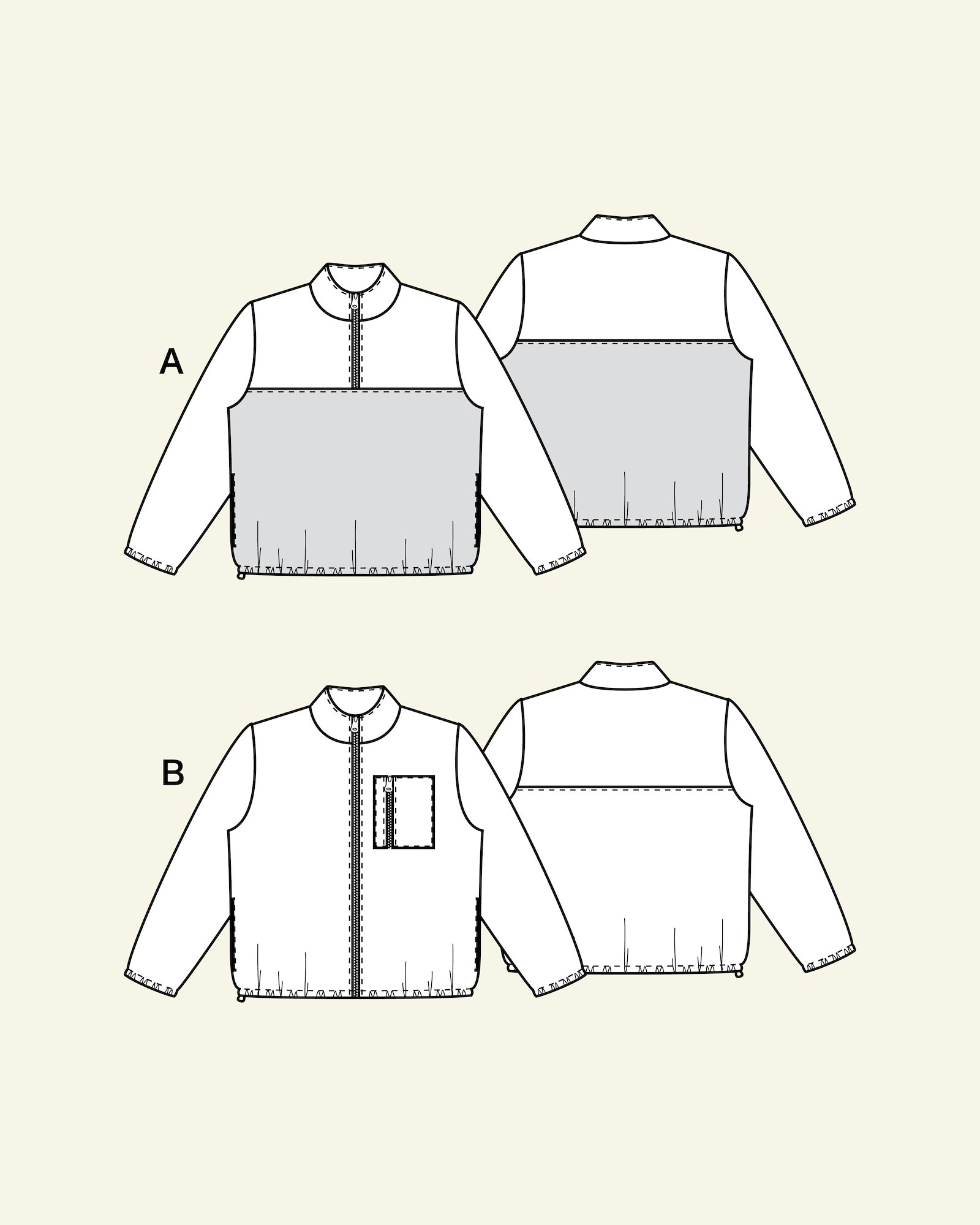 Sweatshirt and jacket, XXL