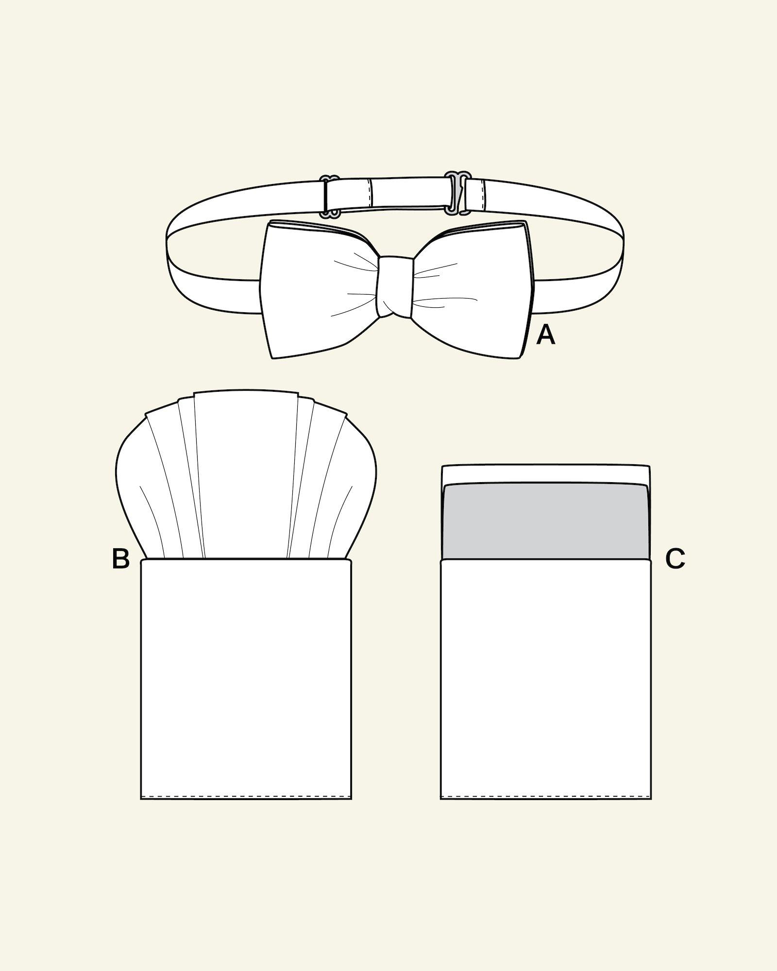 Bow tie and breast pocket handkerchief
