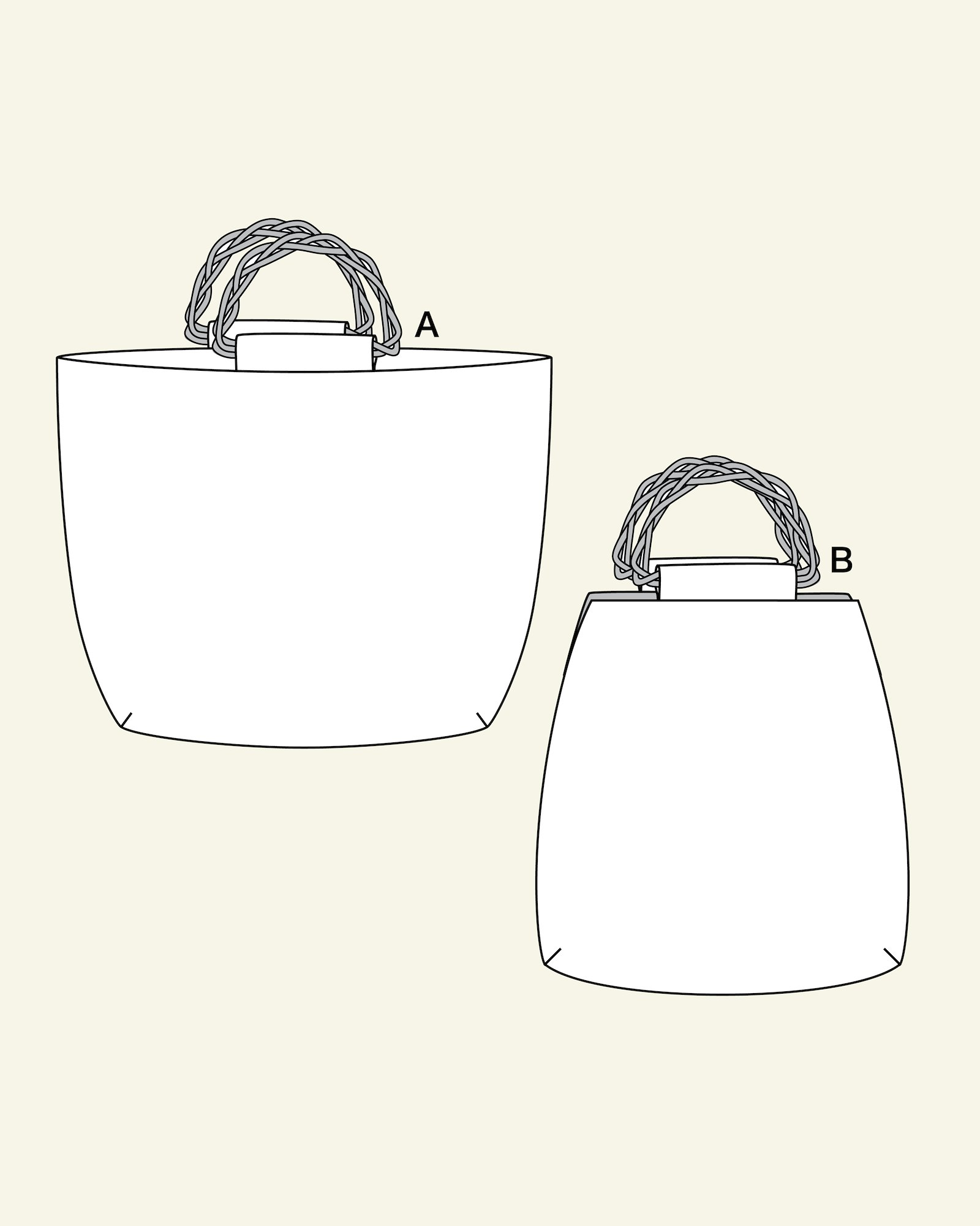 Bags with bamboo handle