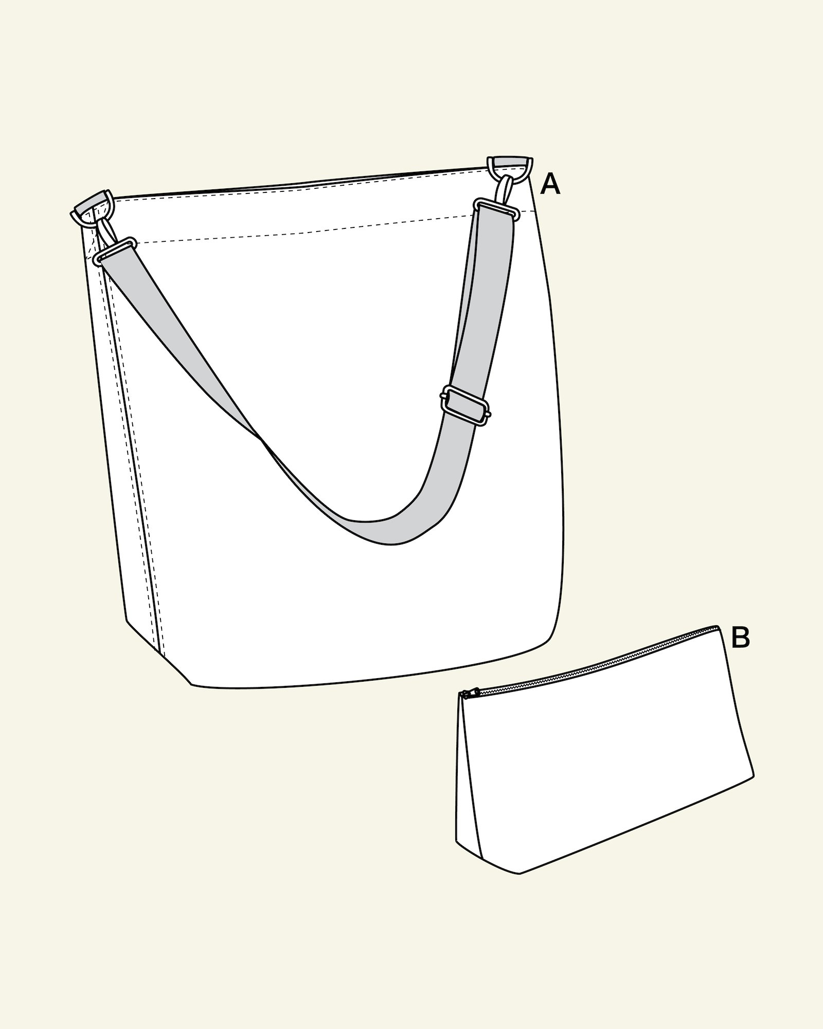 Bag and toiletry bag