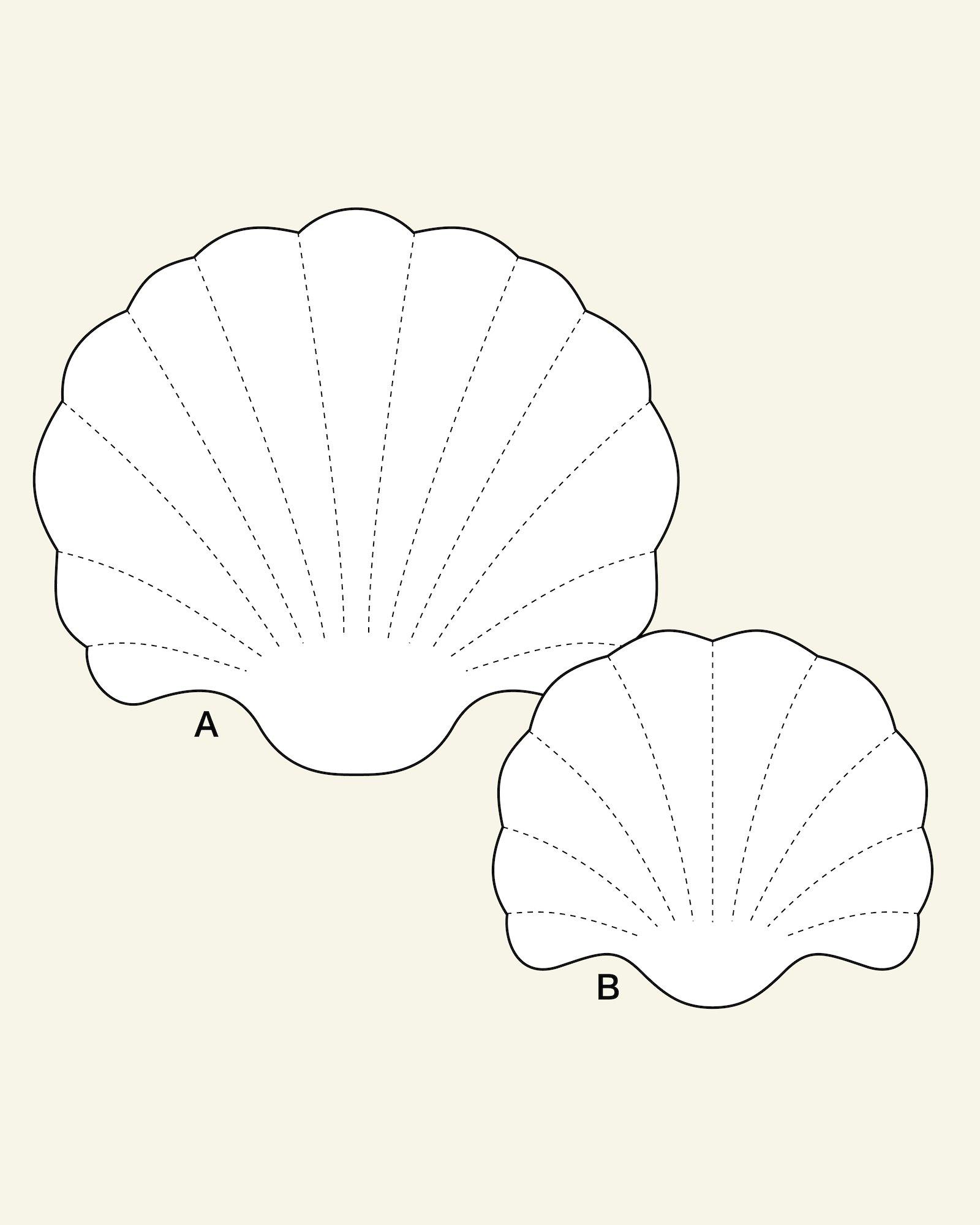 Cockleshell shaped cushion