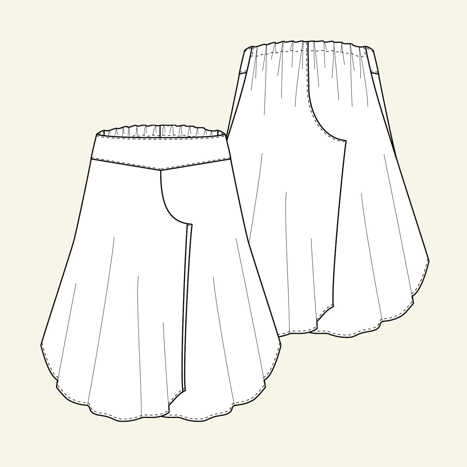 Pants skirt, 46/18 p20053_pack