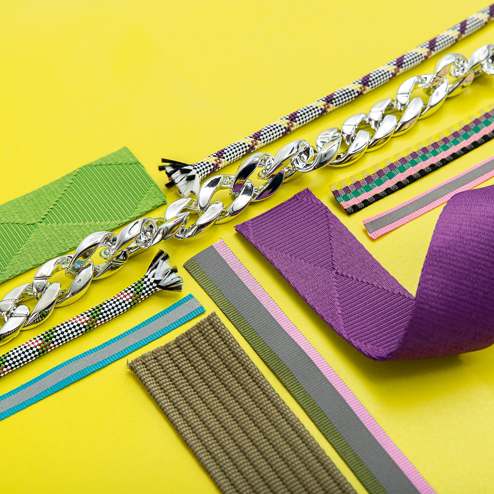 Parachute cord check 8mm purple/lemon 3m 22292_22276_38100_22394_22201_22293_22200_22405_22202_22277_bundle