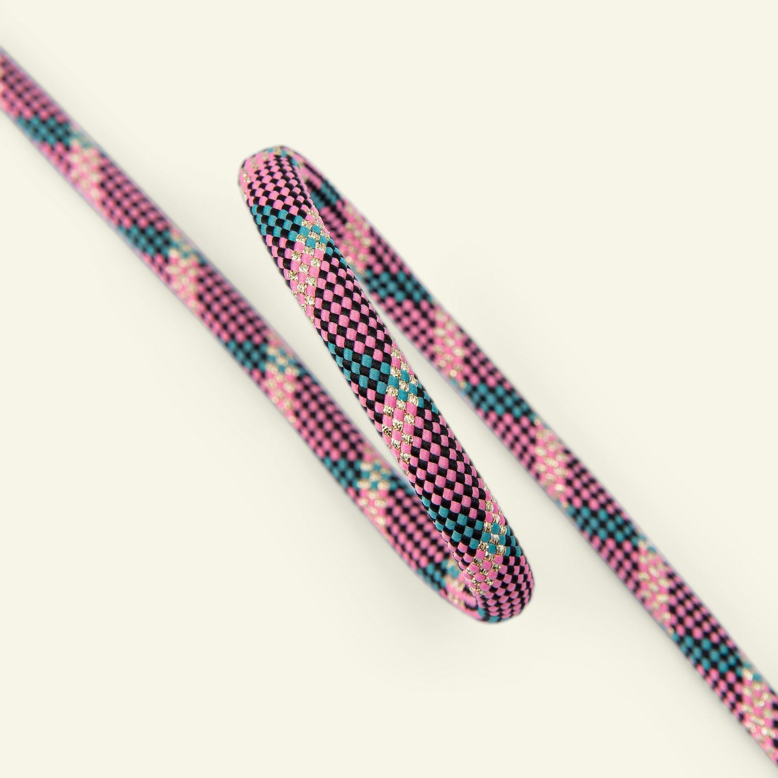 Parachute cord check 8mm rose/petrol 3m 22279_pack
