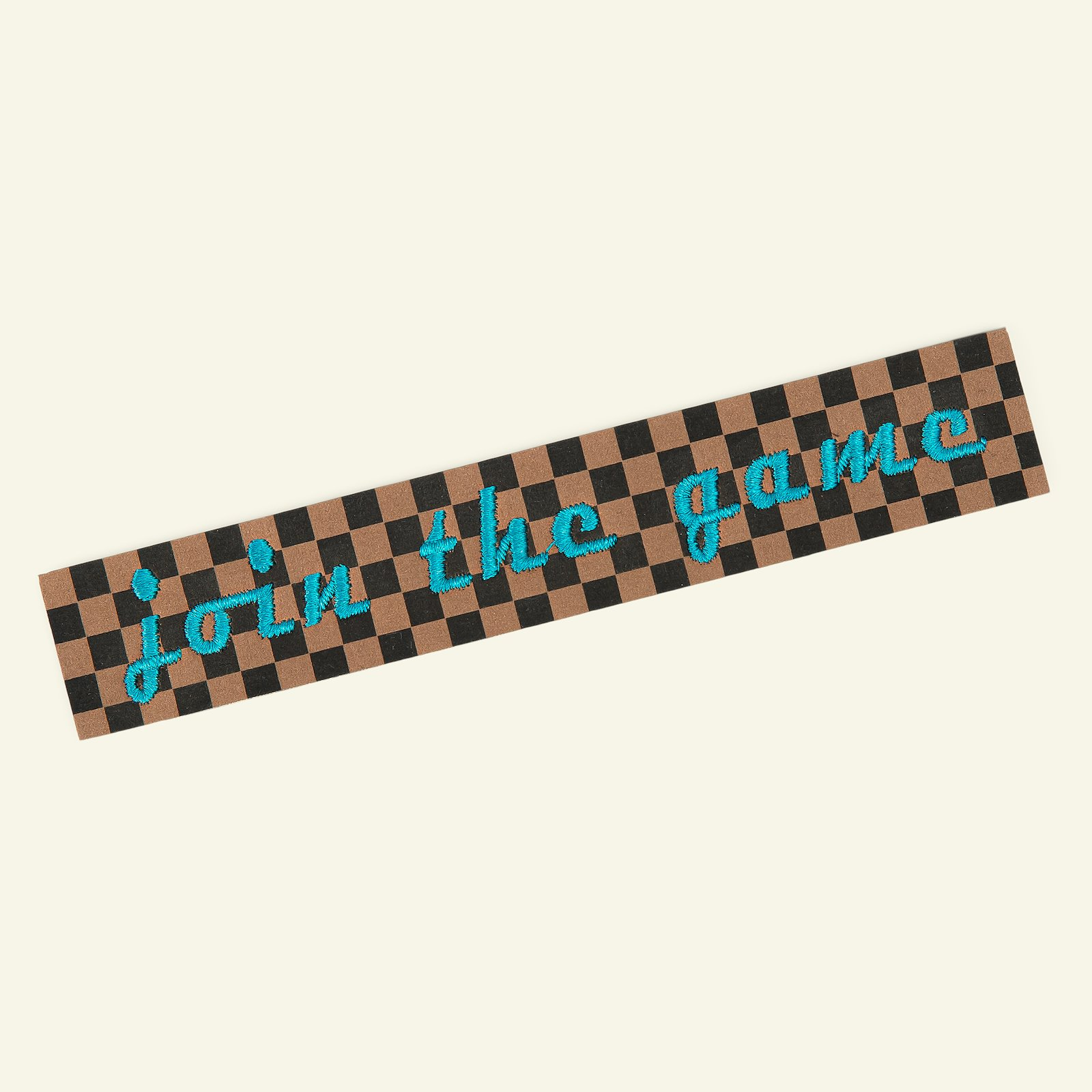 Patch 143x28mm brown/black/green 1pc 24819_pack