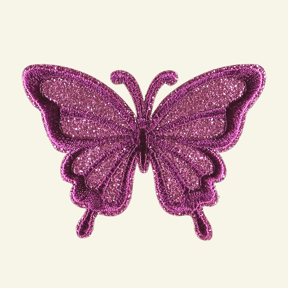 Patch butterfly 67x49mm pink 1pc 26340_pack