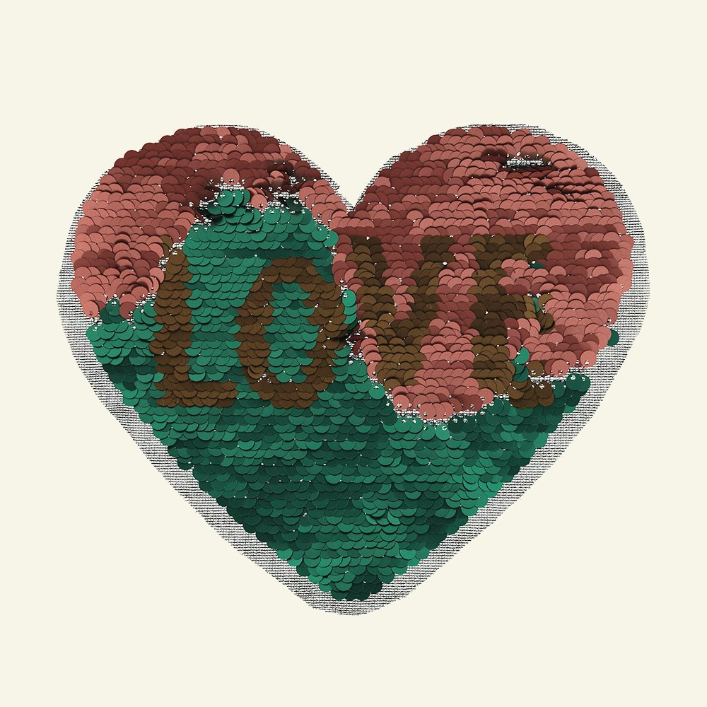 Patch heart/LOVE 19x16cm rouge/green 24655_pack