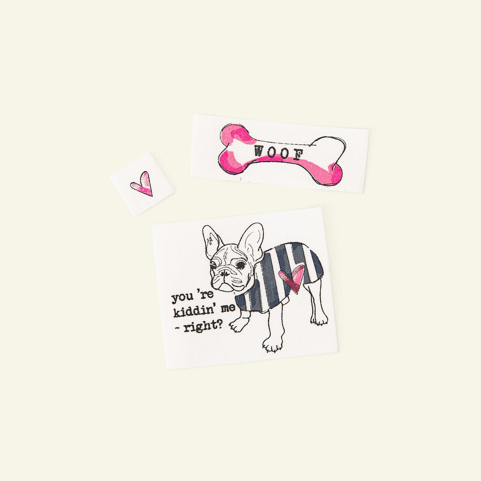 Patch kit dog nature/pink 3 pcs 24848_pack