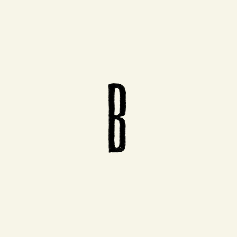 Patch letter B 40mm black 1pc 24451_pack