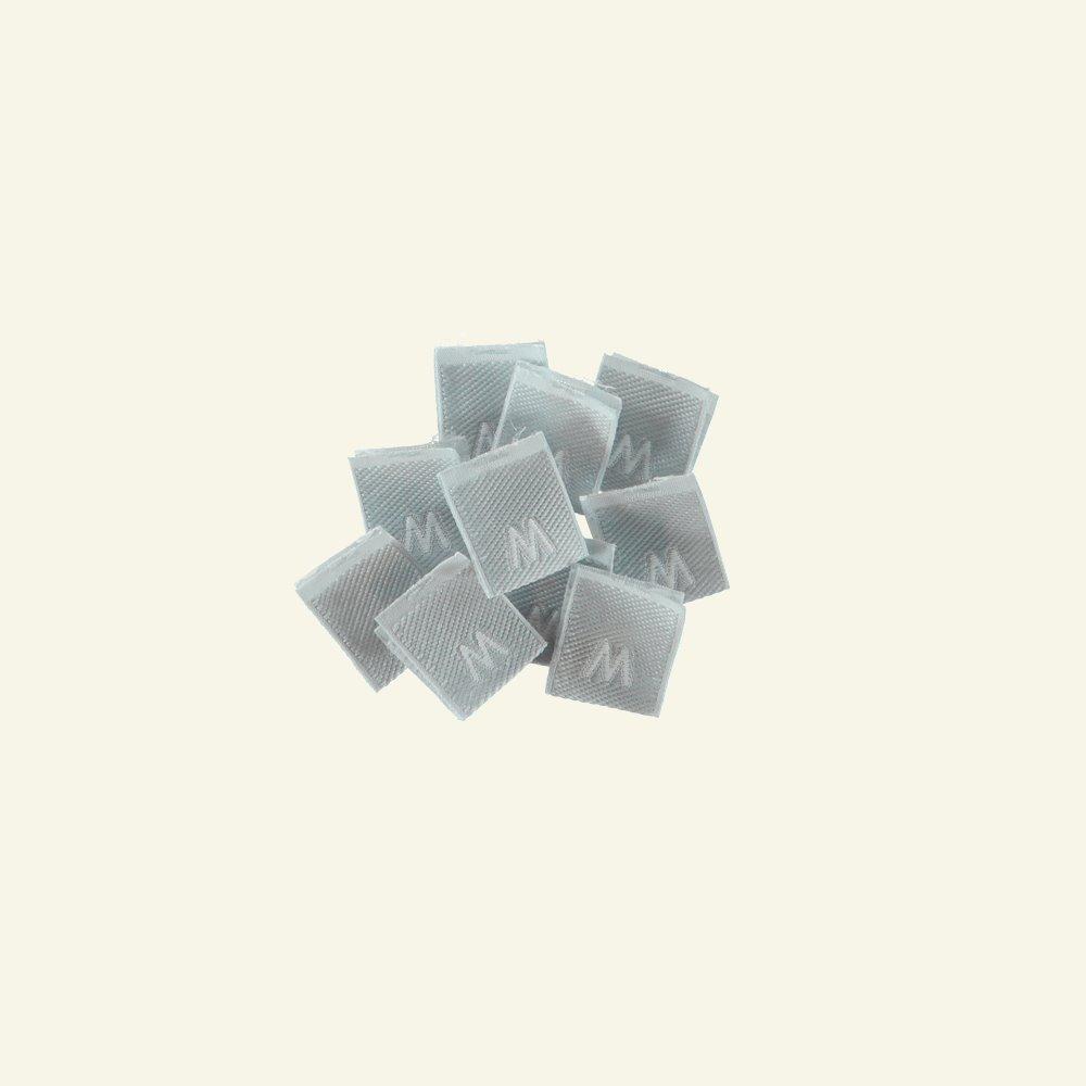 "Patch ""M"" 15x15mm grey 10pcs 23991_pack"