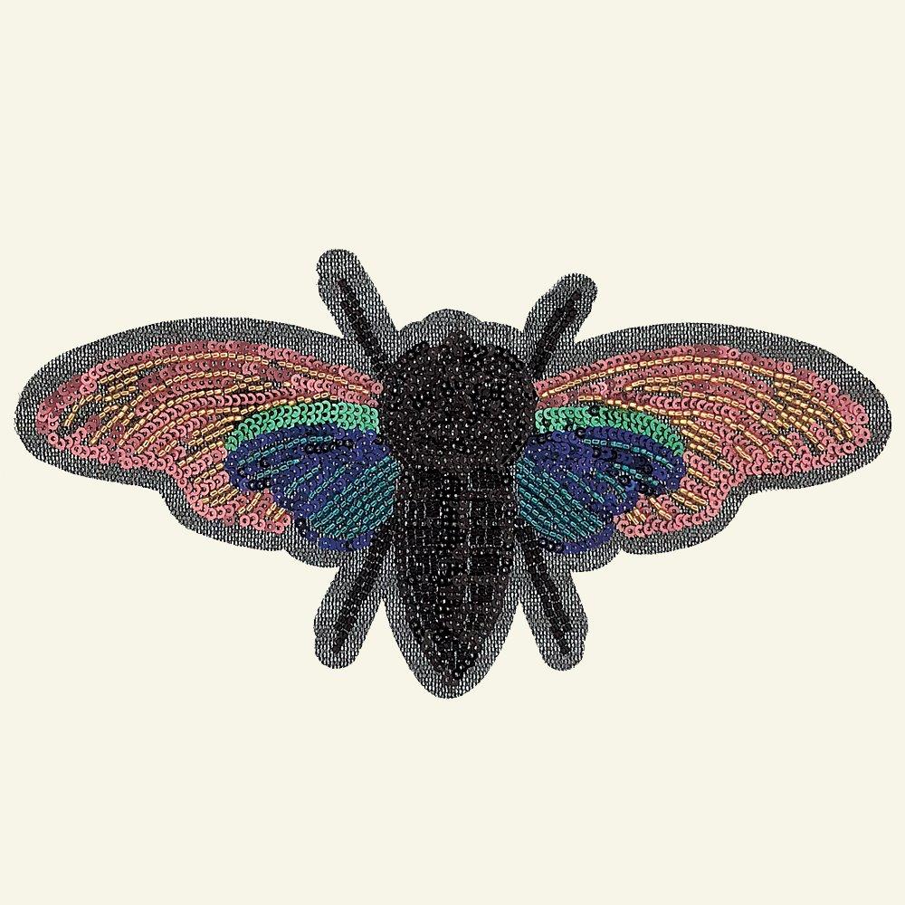 Patch moth 21,5x11cm multicolor 1pc 24650_pack