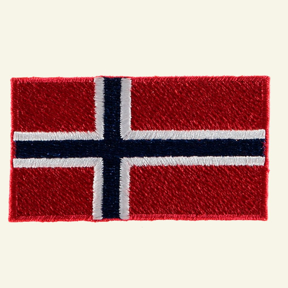 Patch Norwegian flag 68x38mm 23718_pack