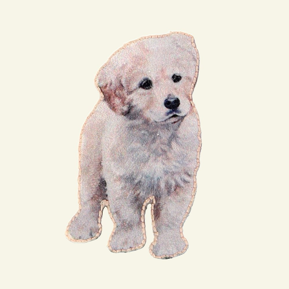 Patch puppy 52x21mm light grey 1pc 24685_pack