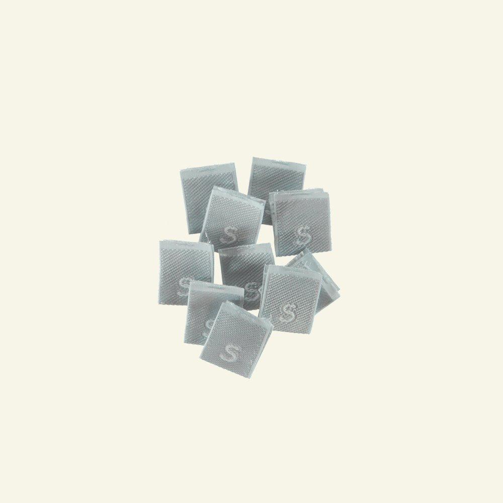 "Patch ""S"" 15x15mm grey 10pcs 23990_pack"