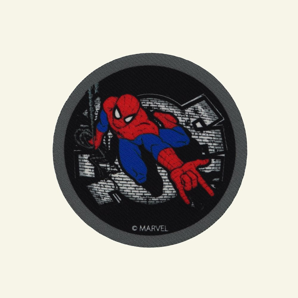 Patch SPIDERMAN 65mm black/white 1pc 24656_pack