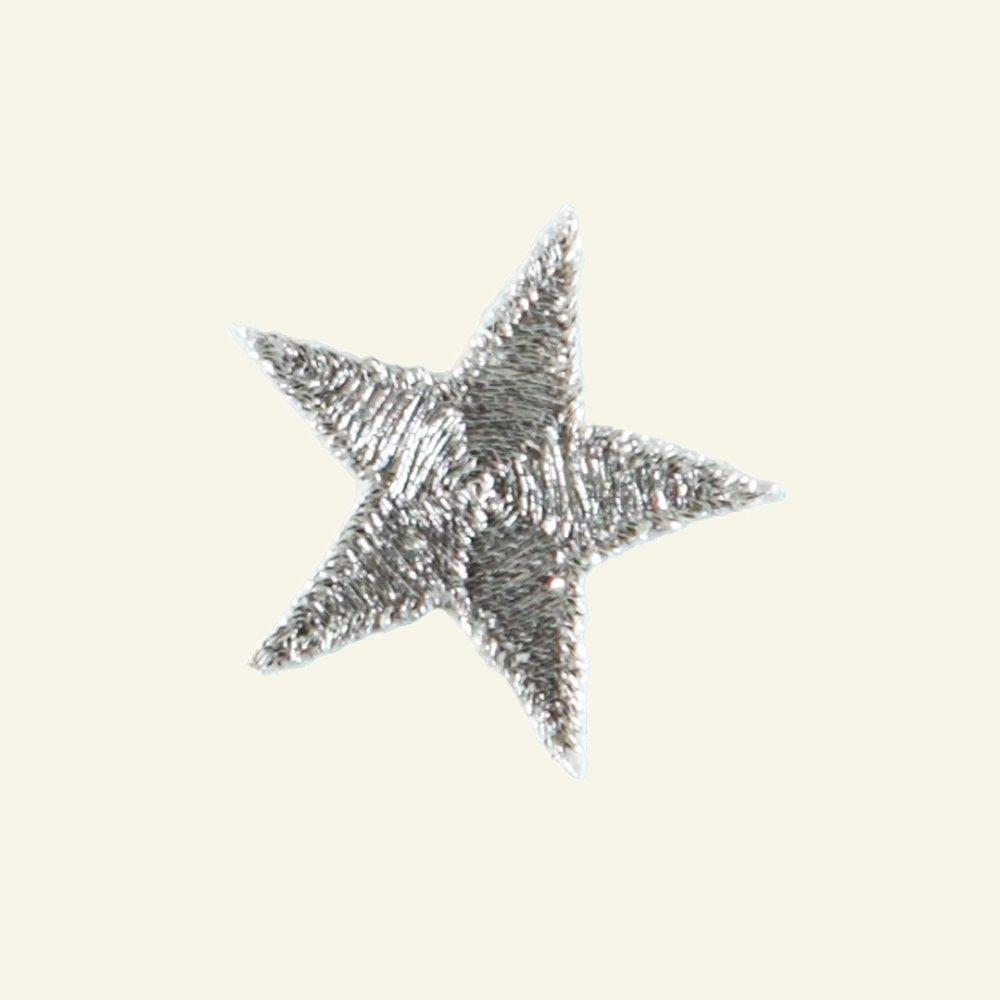 Patch star 2,6 x 2,6 cm silver 1pcs 23555_pack