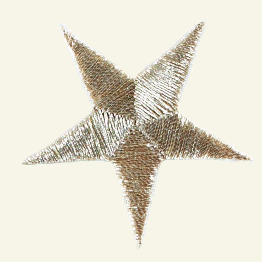 Patch star 4,5 x 4,5 cm gold 1pcs 23551_pack