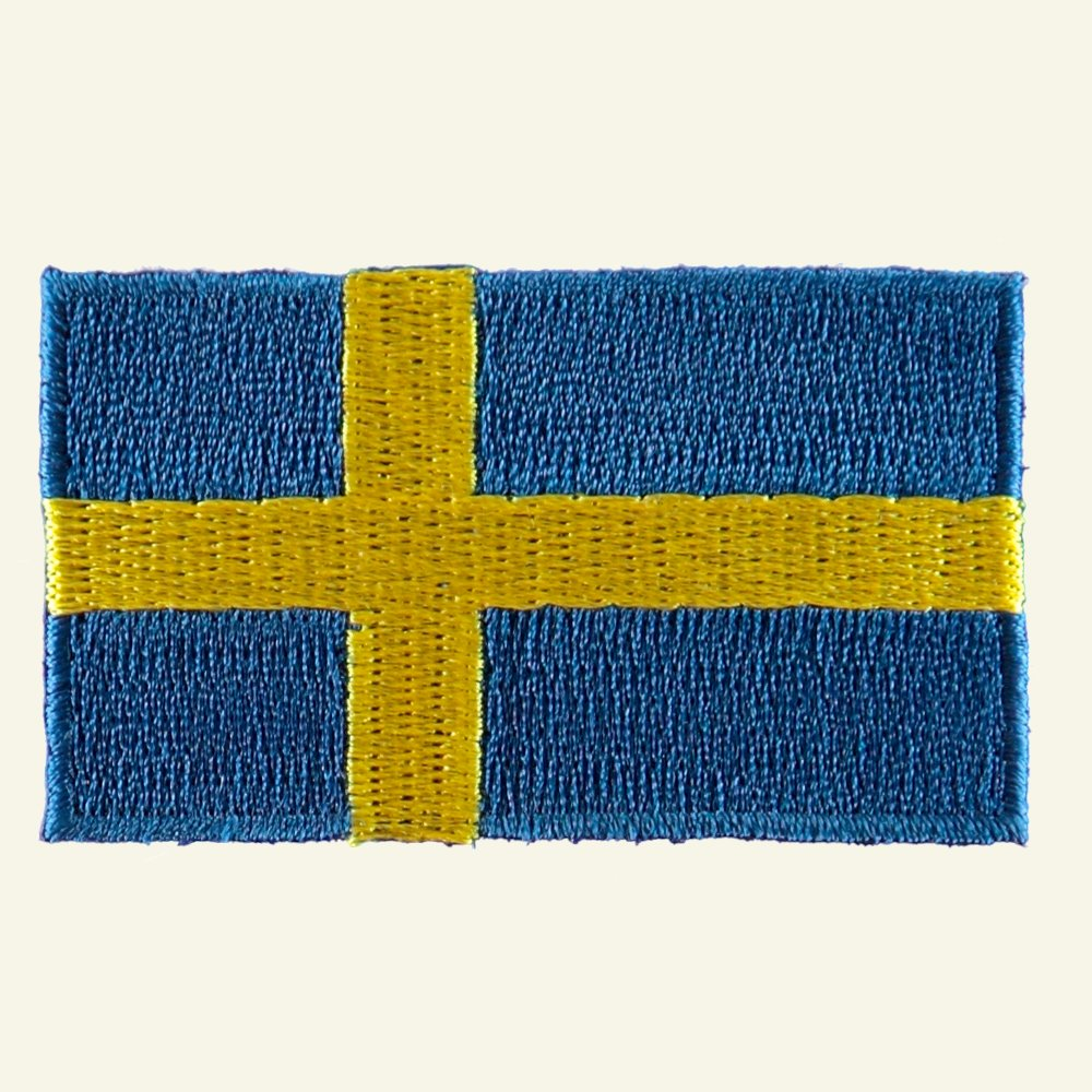 Patch Sweedish flag 68x38mm 23717_pack