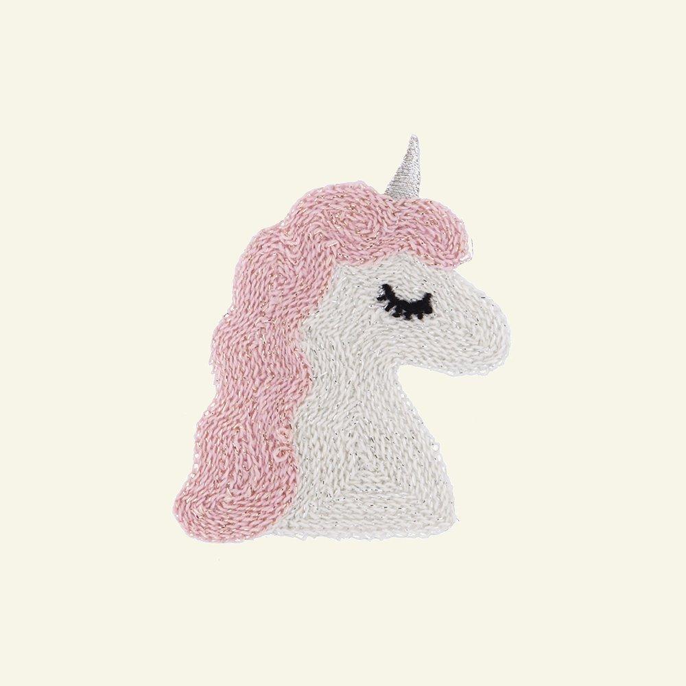 Patch unicorn 70x53mm lurex 1pc 24670_pack
