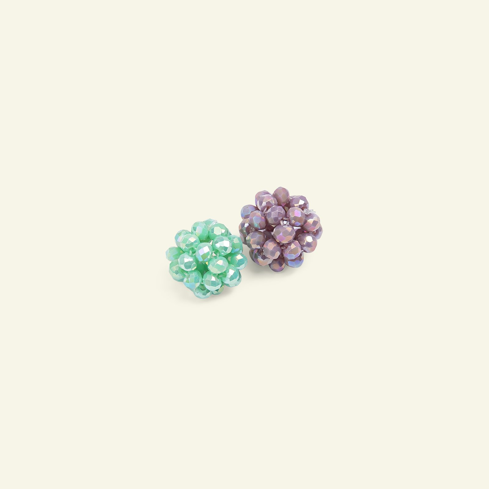 Pearl facet ball 16mm heather / mint 2pc 45468_pack