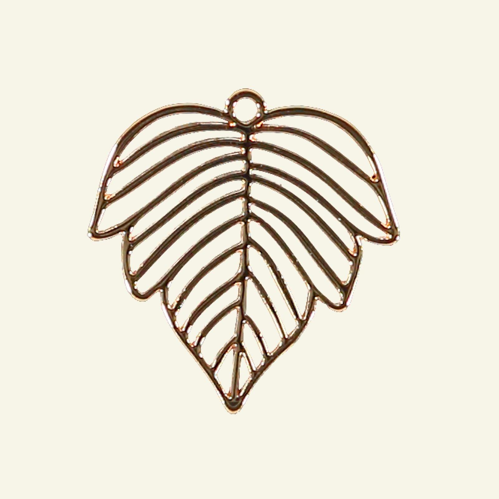 Pendant leaf 28x27mm gold 1 pc 96243_pack