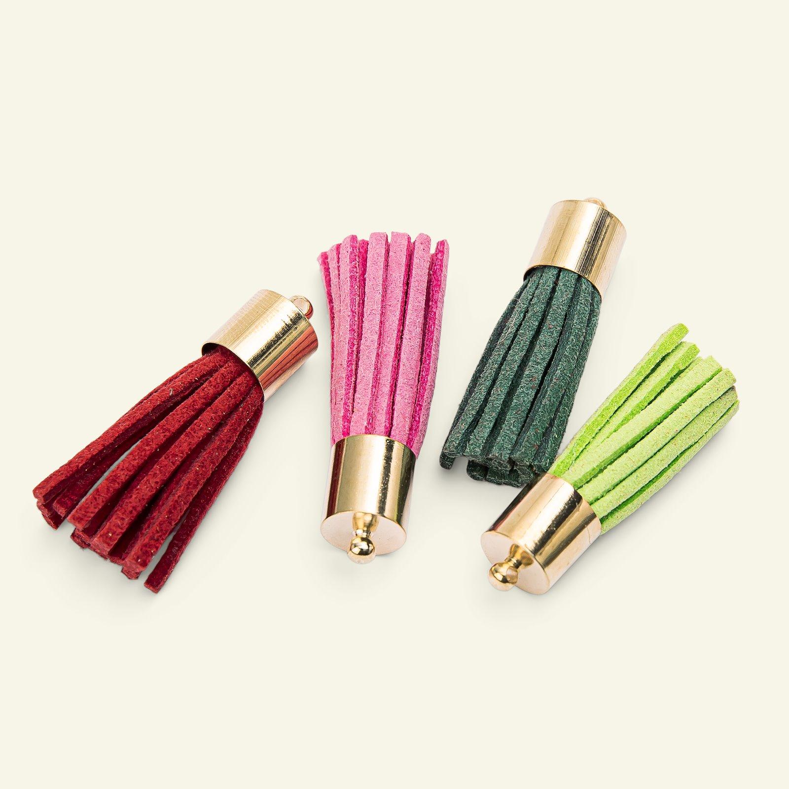 Pendant tassels 35mm 4 colors 4pcs 48699_pack
