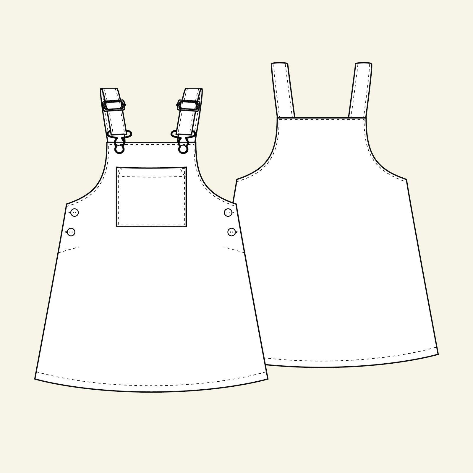 Pinafore dress, 104/4y p63063_pack