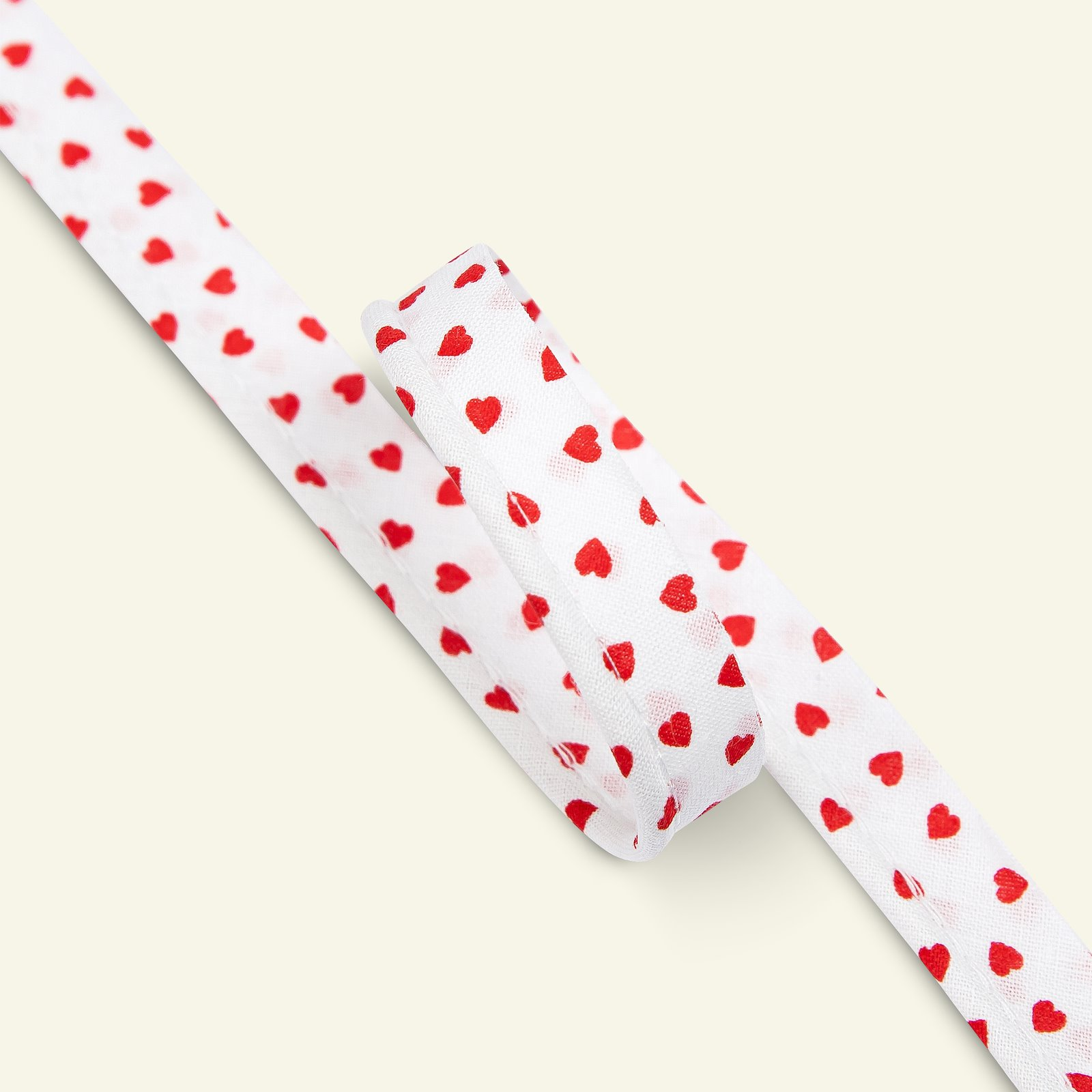 Piping cotton 4mm hearts red/white 3m 71304_pack
