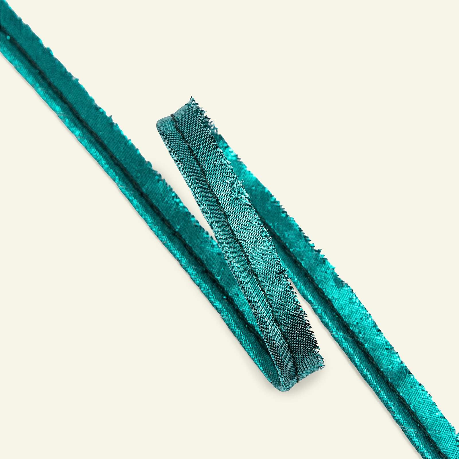 Piping ribbon LUREX 4mm green metal. 3m 72064_pack