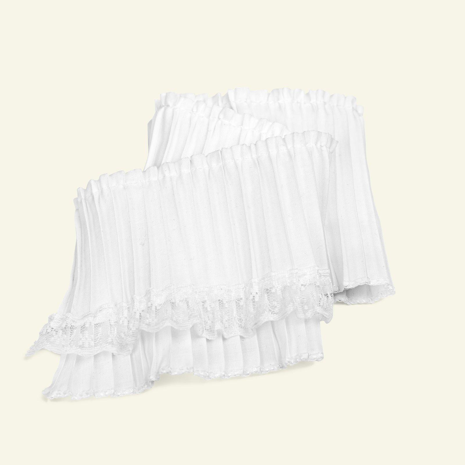 Pleat w/lace 8x120cm white 1pcs 96322_pack