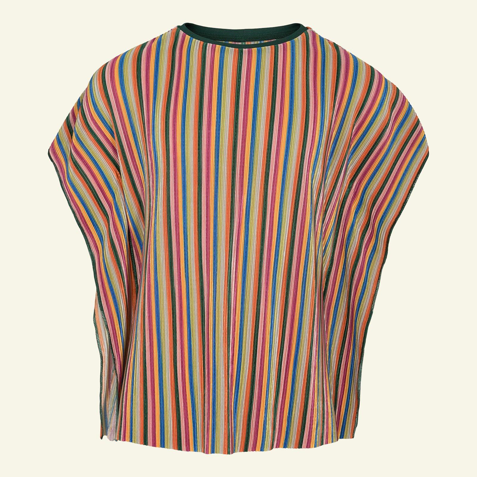 Pleats with multicolored stripe p63057_280105_230627_sskit