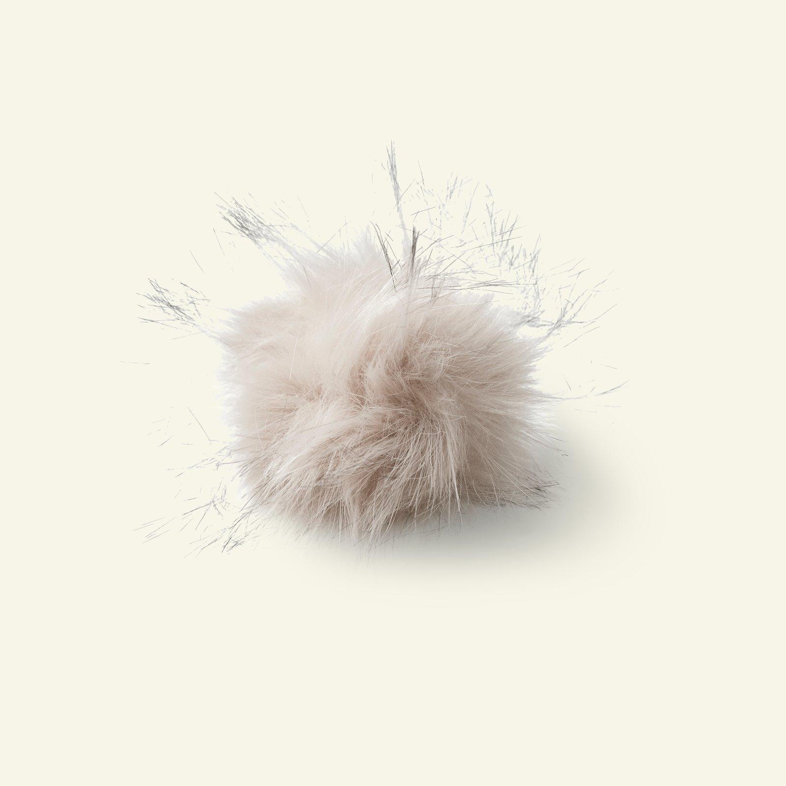 Pompon w/ela dia 12cm fake fur nature 97003_pack