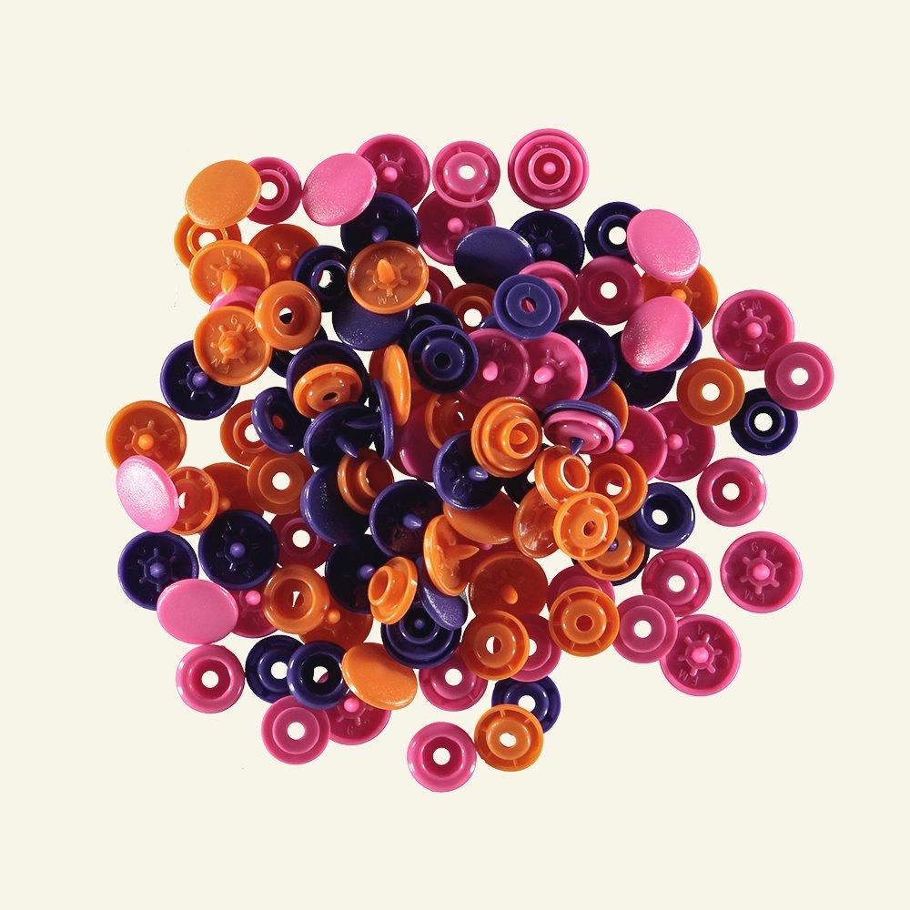 Prym Love snapfast. 12,4 purple mix 30pc 45007_pack