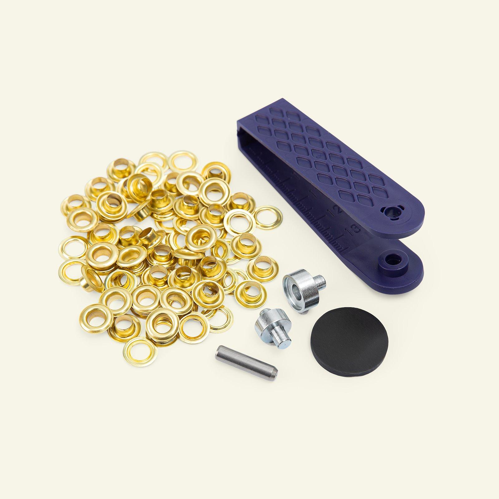 PRYM Ösen mit Werkzeug 5mm Gold 40 Stk. 44907_pack