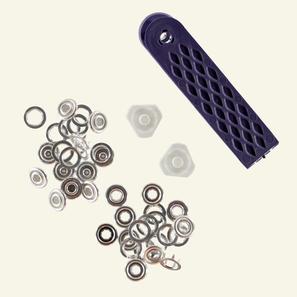 Prym snap button 10mm silver 10pcs 45050_pack