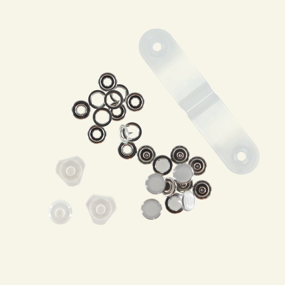 Prym snap button w/cape 12mm pearl 6pcs 45051_pack