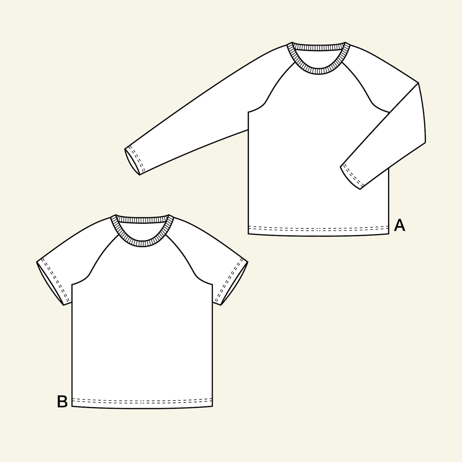 Raglan t-shirt, 122/7y p62018_pack
