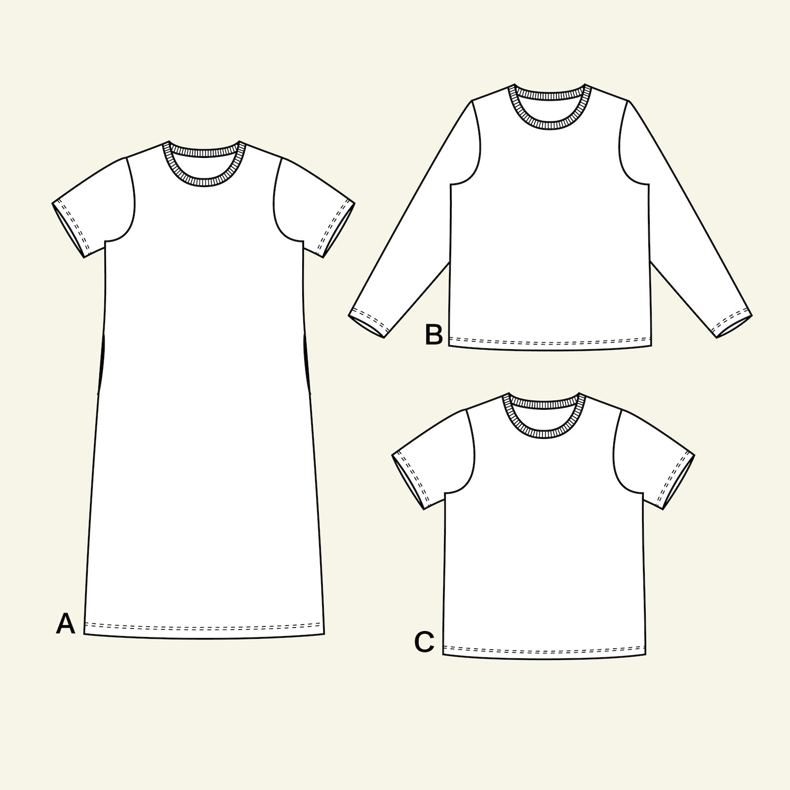 Raglan t-shirt, 36/8 p22072_pack