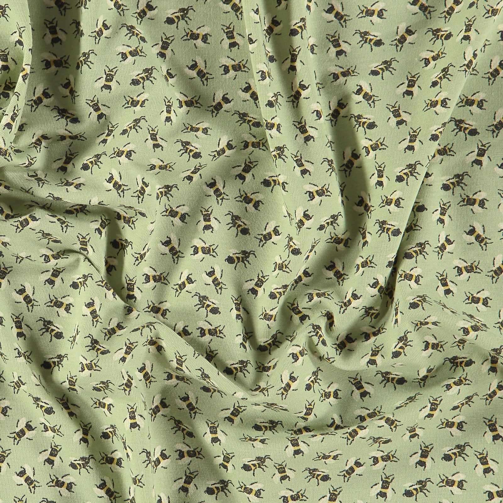 Recycled stretch jersey light sage w bee 272731_pack
