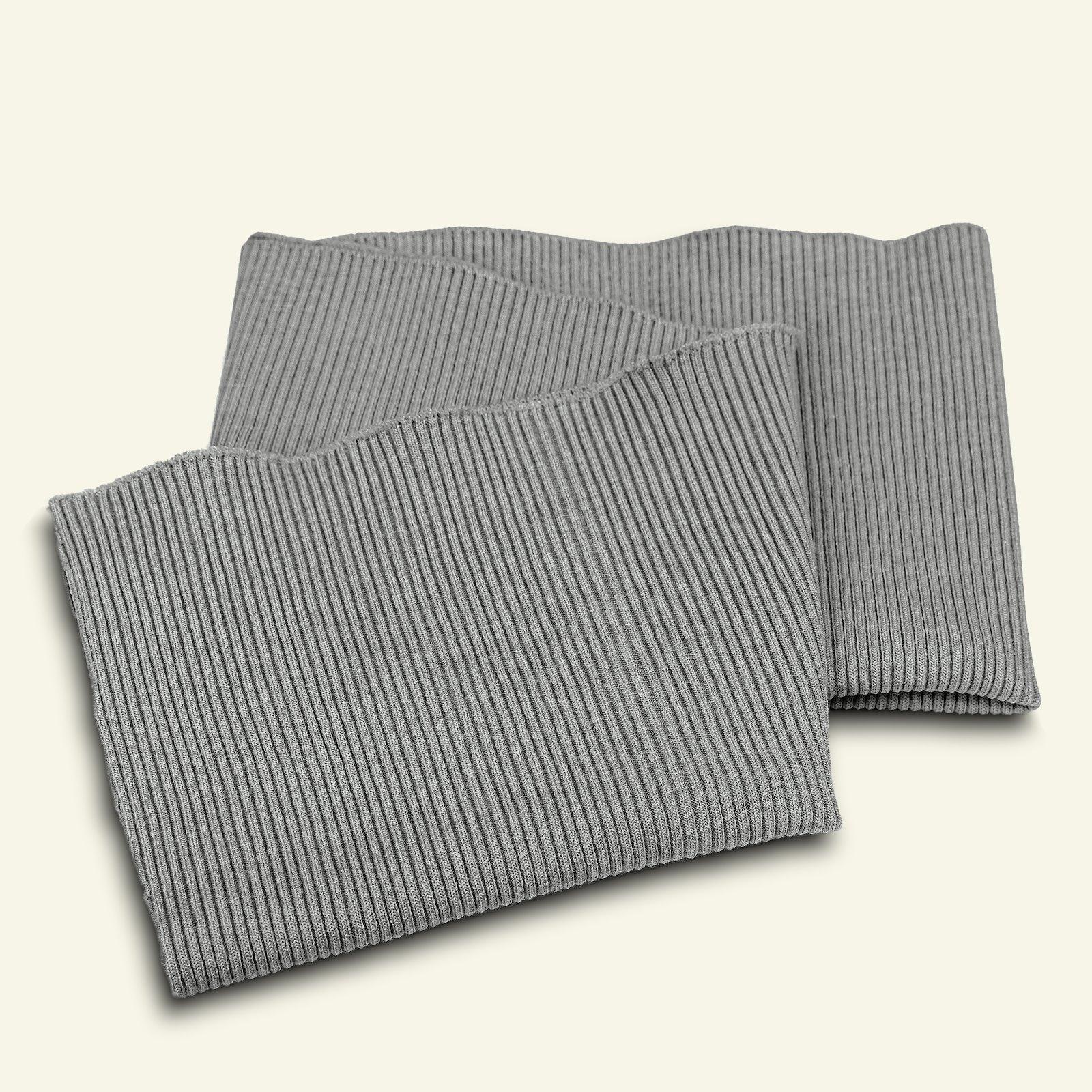 Rib 2x2 30x90cm grey melange 1pc 96041_pack