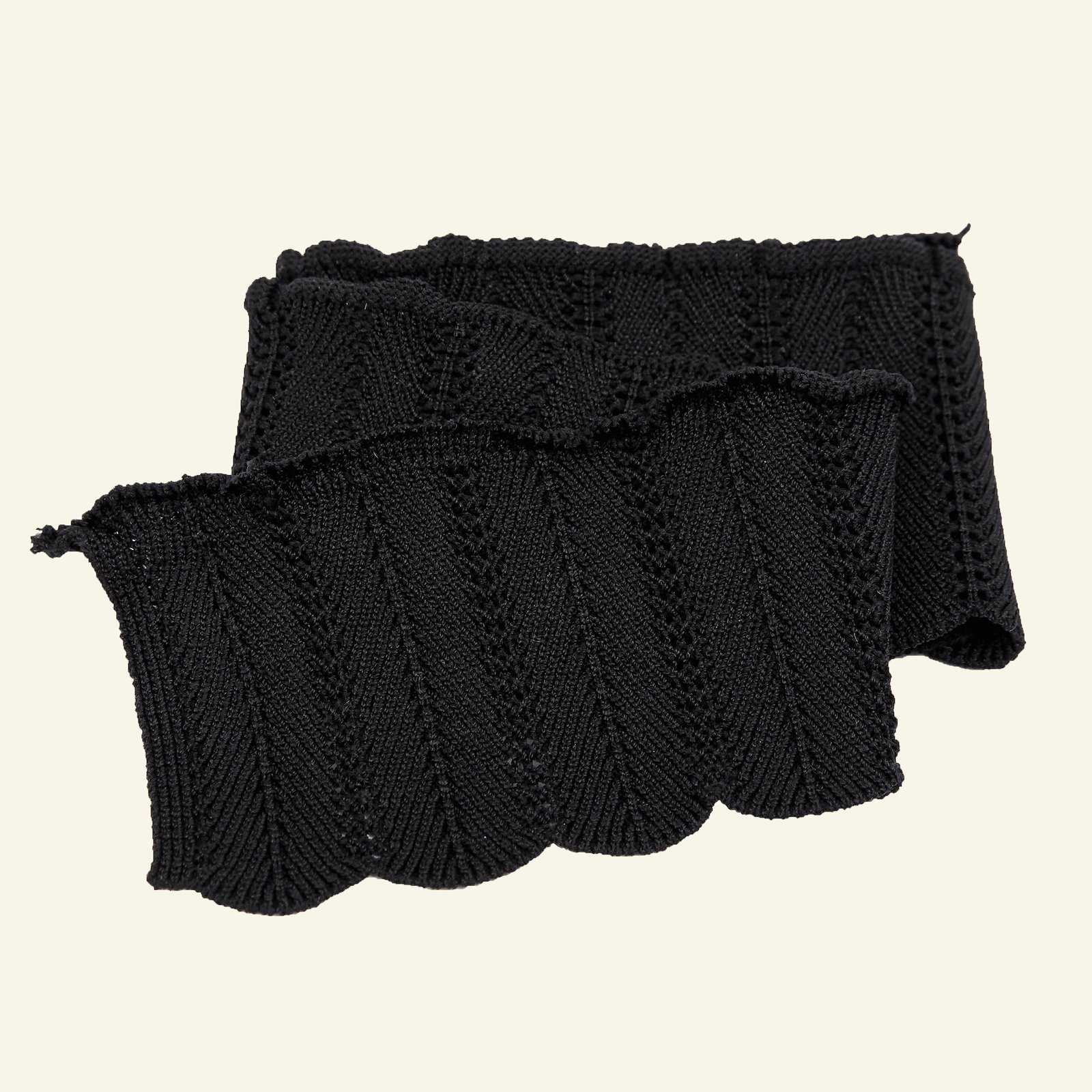 Rib knitted 6x55cm black 1pc 96177_pack